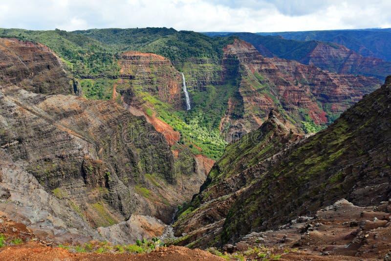 Canyon magnifico di Waimea (anche conosciuto come Grand Canyon del Pacifico) nell'isola di Kauai immagine stock libera da diritti