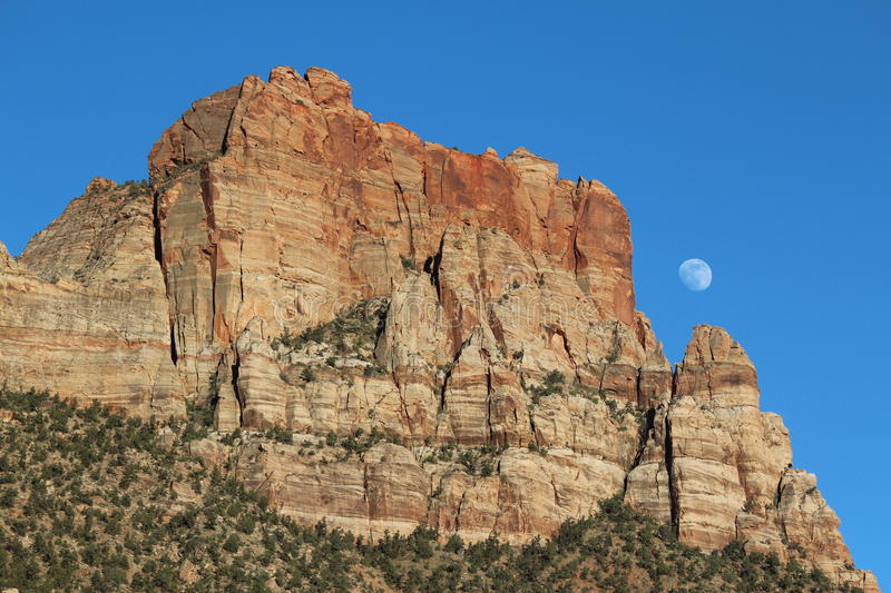 Canyon Moon, Zoomed Out royalty free stock image