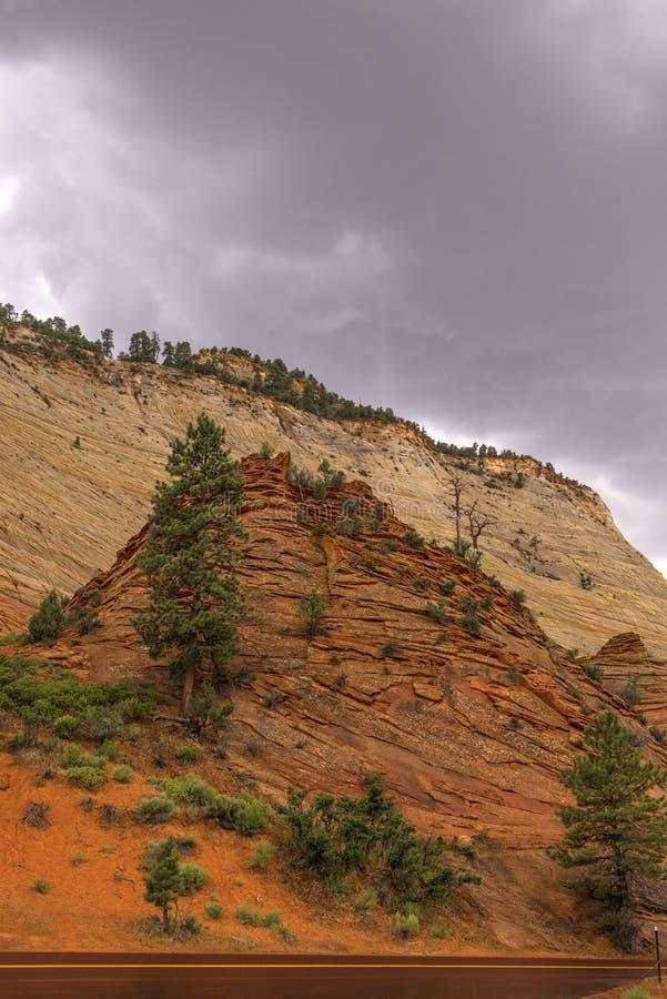 Canyon national de parc-Zion d'UT-Zion photographie stock libre de droits