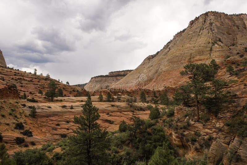 Canyon national de parc-Zion d'UT-Zion photographie stock