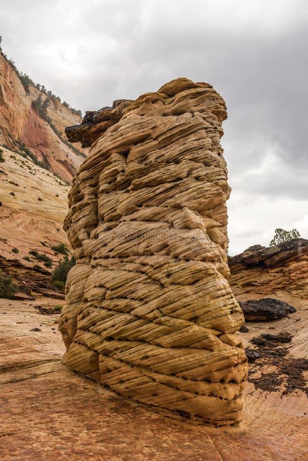 Canyon national de parc-Zion d'UT-Zion image stock