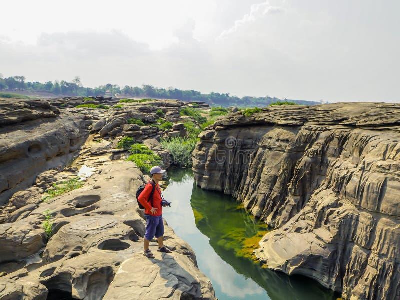 Canyon nel mekhongriver, Tailandia immagini stock