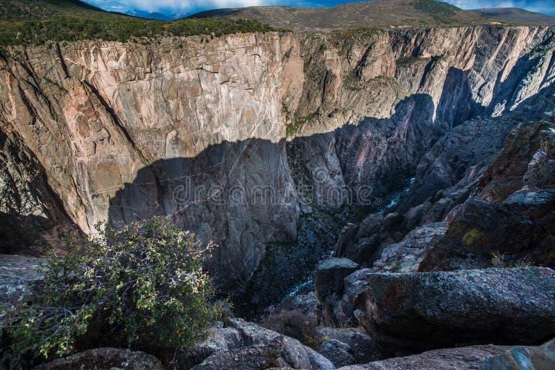 Canyon nero della sosta nazionale di Gunnison fotografie stock libere da diritti