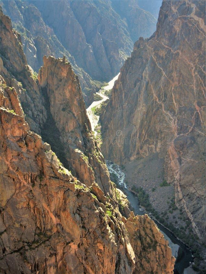Canyon nero della voragine di Gunnison fotografie stock