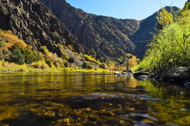 Canyon nero di Gunnison del portale 2 verso est immagini stock