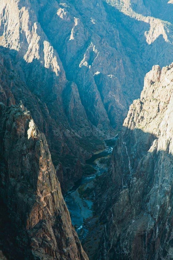 Canyon nero di Gunnison, roccia dipinta fotografie stock libere da diritti