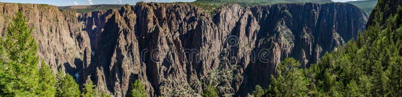 Canyon noir du panorama de Gunnison images libres de droits