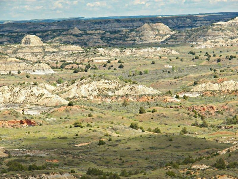 Canyon peint, Medora le Dakota du Nord photos stock
