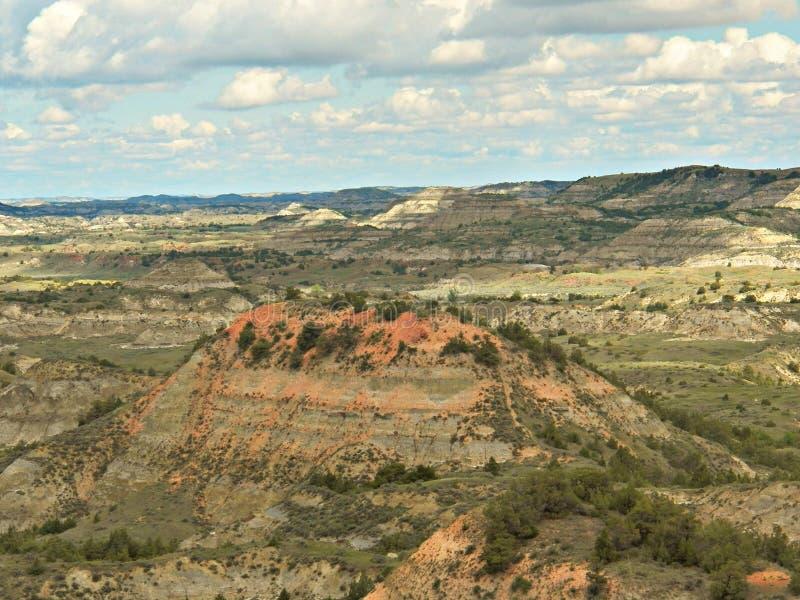 Canyon peint, Medora, le Dakota du Nord photographie stock libre de droits