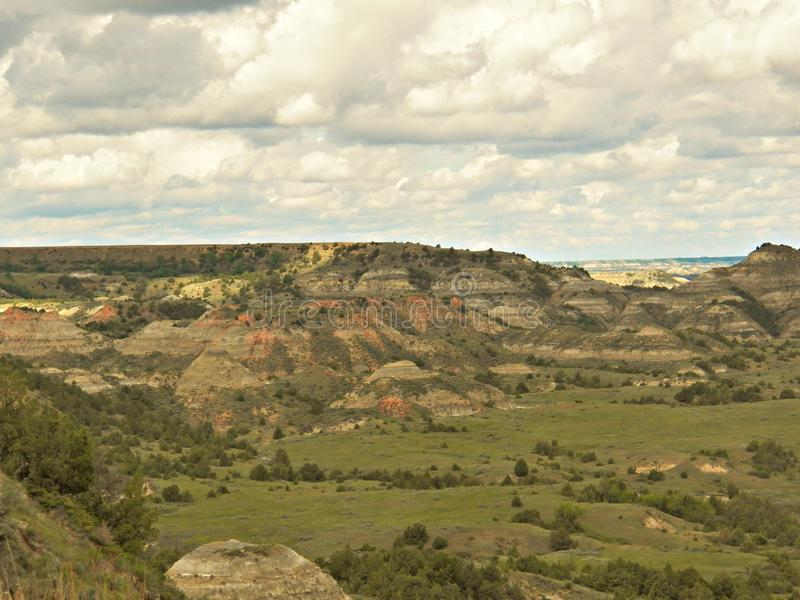 Canyon peint, Theodore Roosevelt National Park image stock