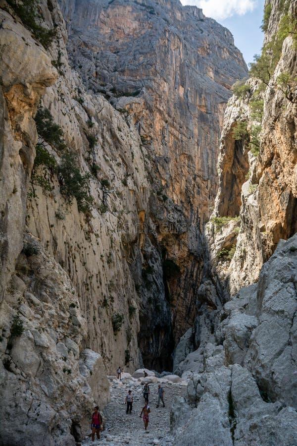 Canyon with people far away stock photos