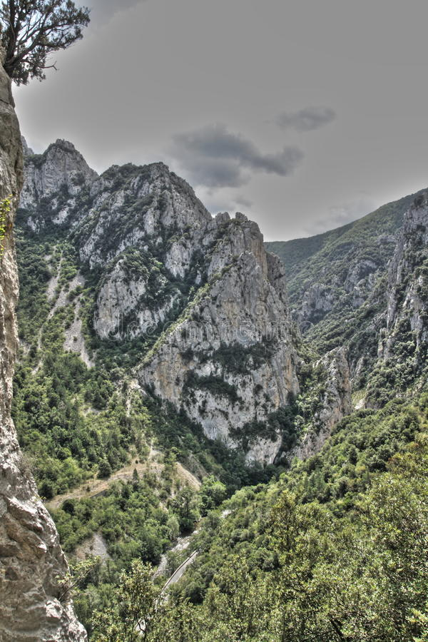 Canyon of Pierre Lys in Pyrenees, France stock photo