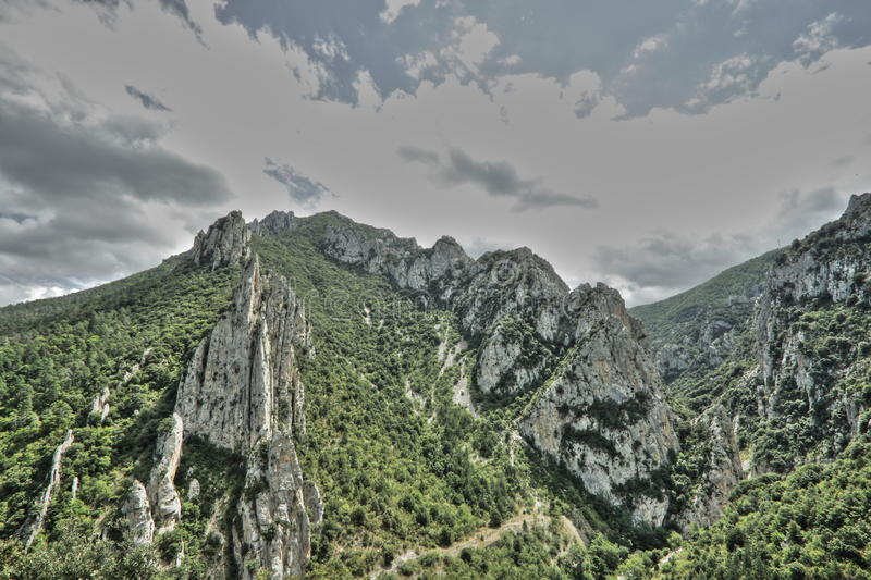 Canyon of Pierre Lys in Pyrenees, France royalty free stock images