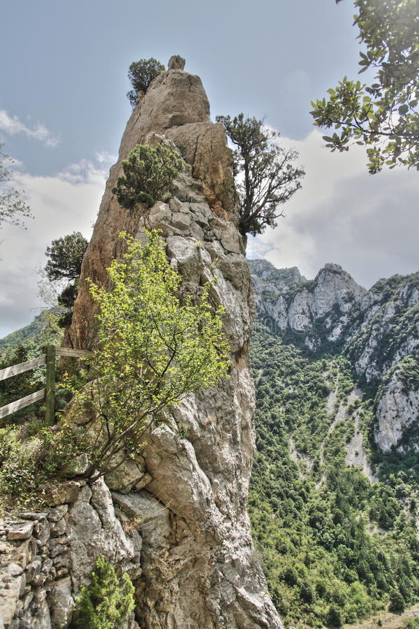 Canyon of Pierre Lys in Pyrenees, France royalty free stock image