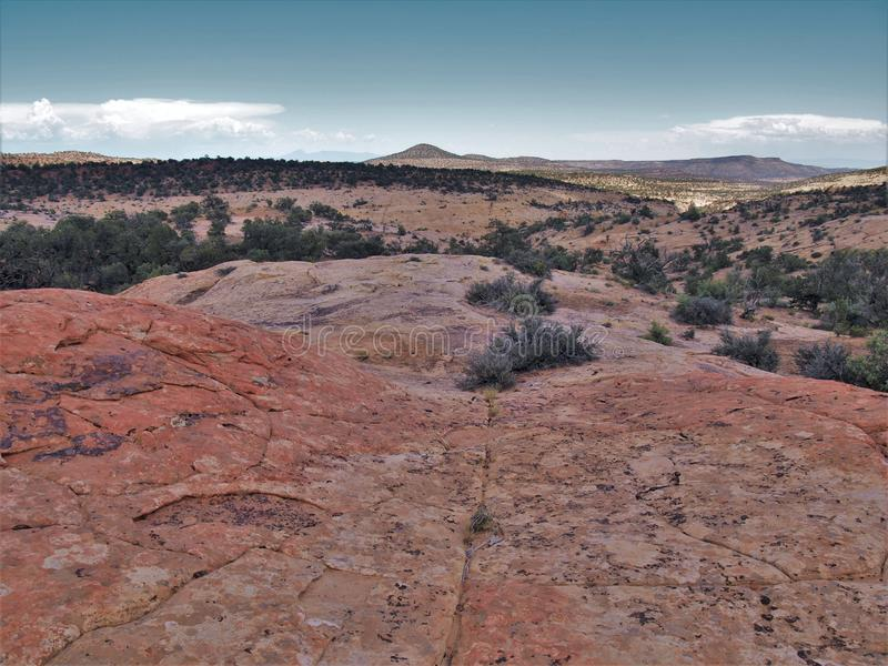 Canyon Rims Recreation Area. An outdoor lovers playground, includes 100,273 acres south of Moab in southern Utah stock photography