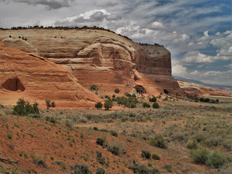 Canyon Rims Recreation Area. An outdoor lovers playground, includes 100,273 acres south of Moab in southern Utah stock image