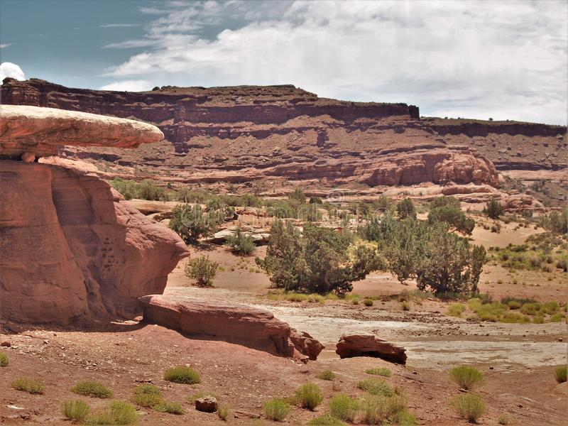 Canyon Rims Recreation Area. An outdoor lovers playground, includes 100,273 acres south of Moab in southern Utah stock photos