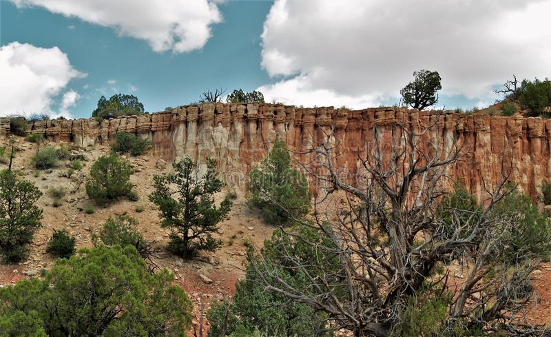 Canyon Rims Recreation Area. Rocky columns create a cliff wall in Canyon Rims Recreation Area. Located in southern Utah, it is an outdoor enthusiast`s playground stock image