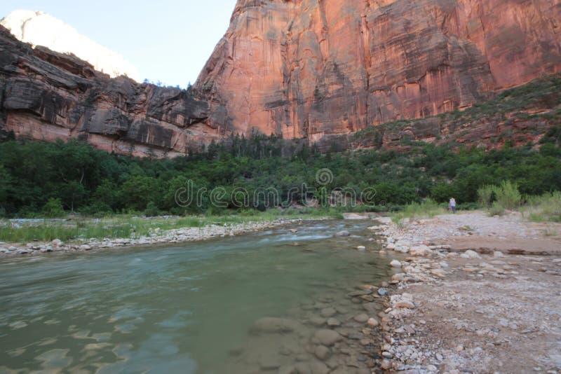 Canyon river stock photo