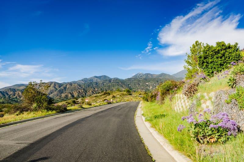 Canyon Road - Condado de Orange, Califórnia fotografia de stock royalty free