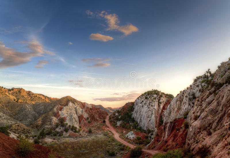Canyon Road during sunset royalty free stock image