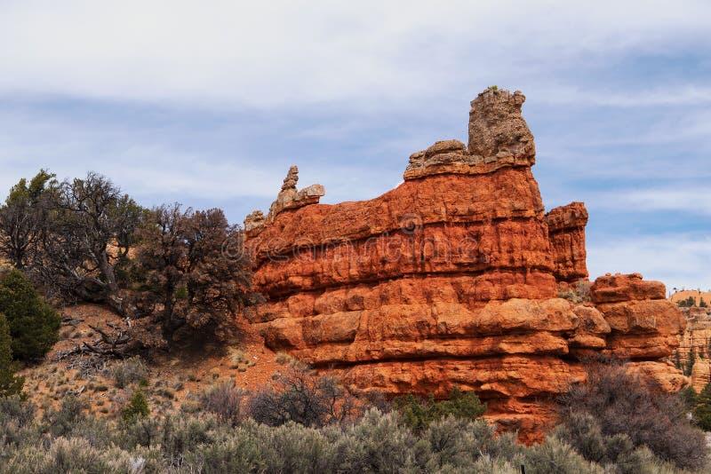 Canyon rosso nell'Utah immagini stock libere da diritti