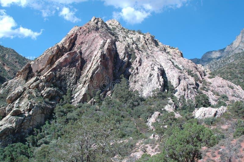 Canyon rosso Nevada della roccia fotografia stock
