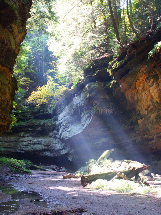 Download Canyon Sunbeam stock image. Image of sfondilias, forest - 184351