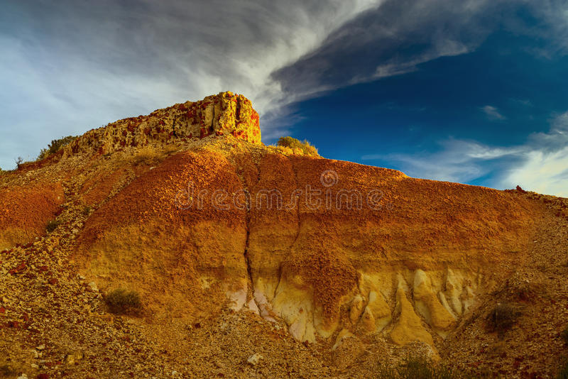 Canyon at sunset royalty free stock photography