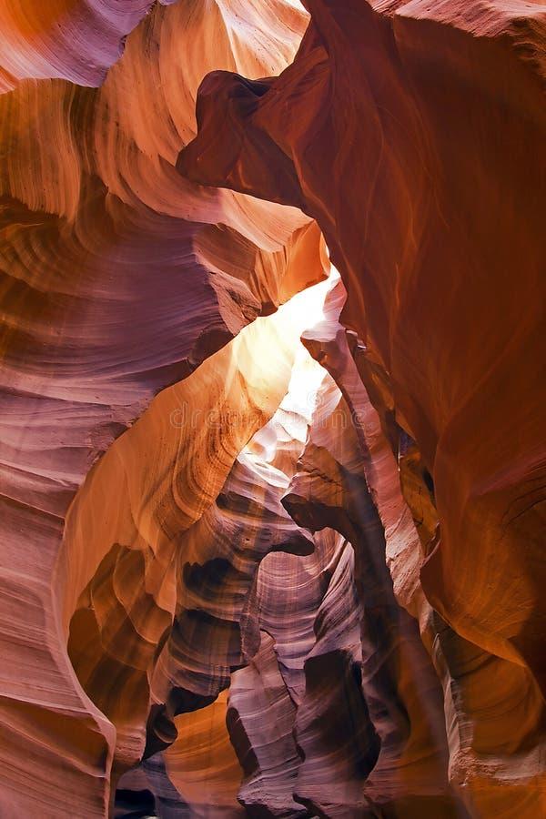 Canyon superiore dell'antilope in pagina, Arizona, U.S.A. immagine stock libera da diritti