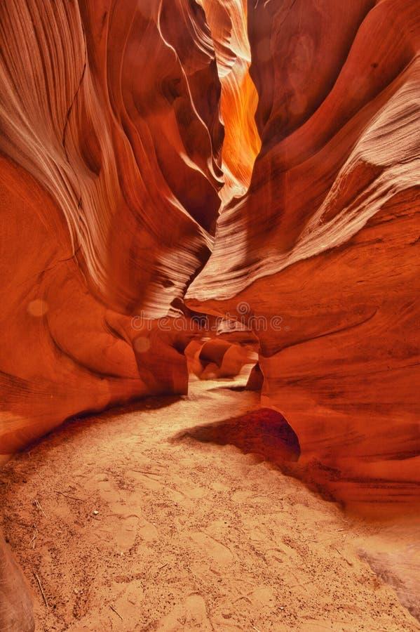 Canyon superiore dell'antilope (scanalatura) in pagina, Arizona immagine stock