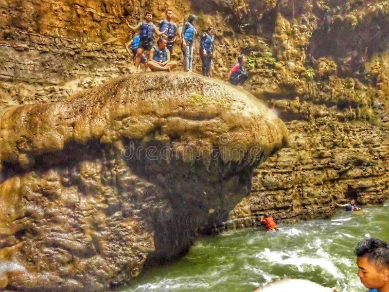 Canyon verde fotografie stock