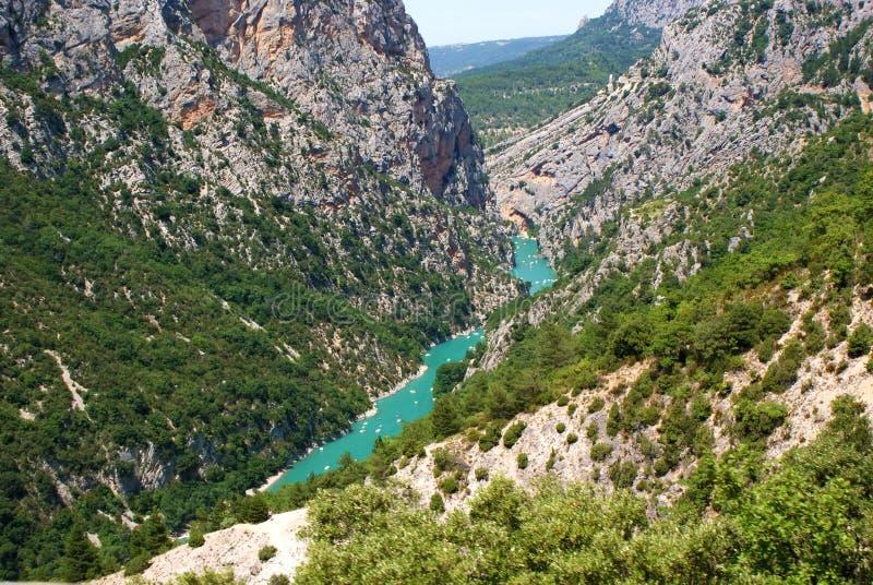 Download Canyon Verdon stock image. Image of azure, mountain, rock - 16144773