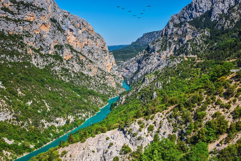 Turquoise water of the river stock photography