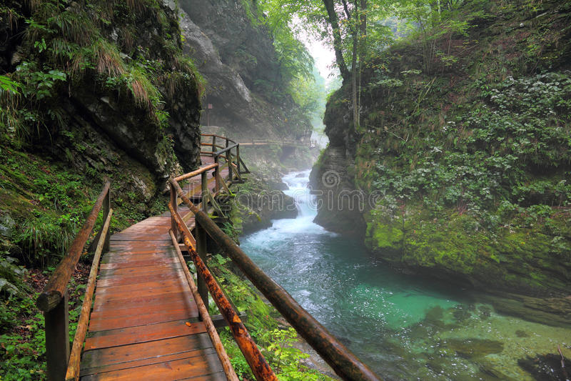 Canyon Vintgar, Triglav - Slovenia, stock photography