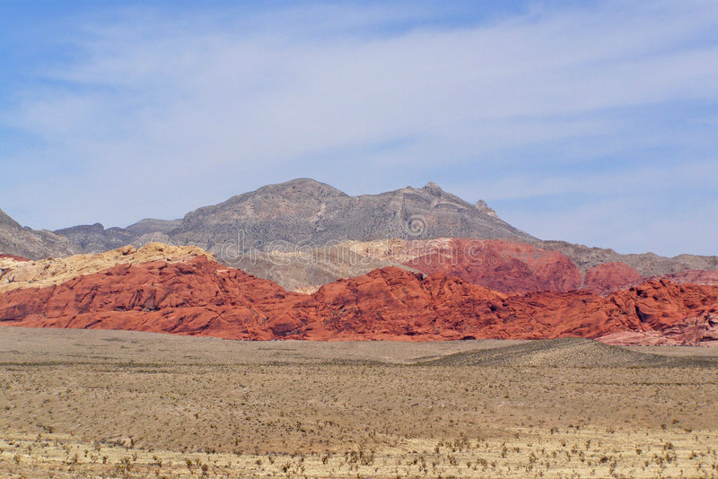 Canyon Vista. Panoramic of Red Rock Canyon in Nevada stock images
