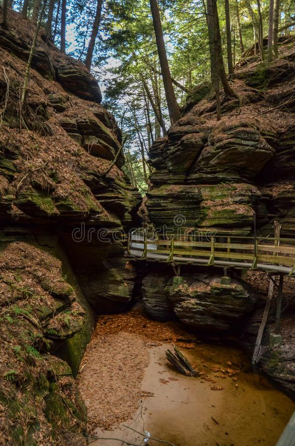 A Canyon in Wisconsin Dells stock photos