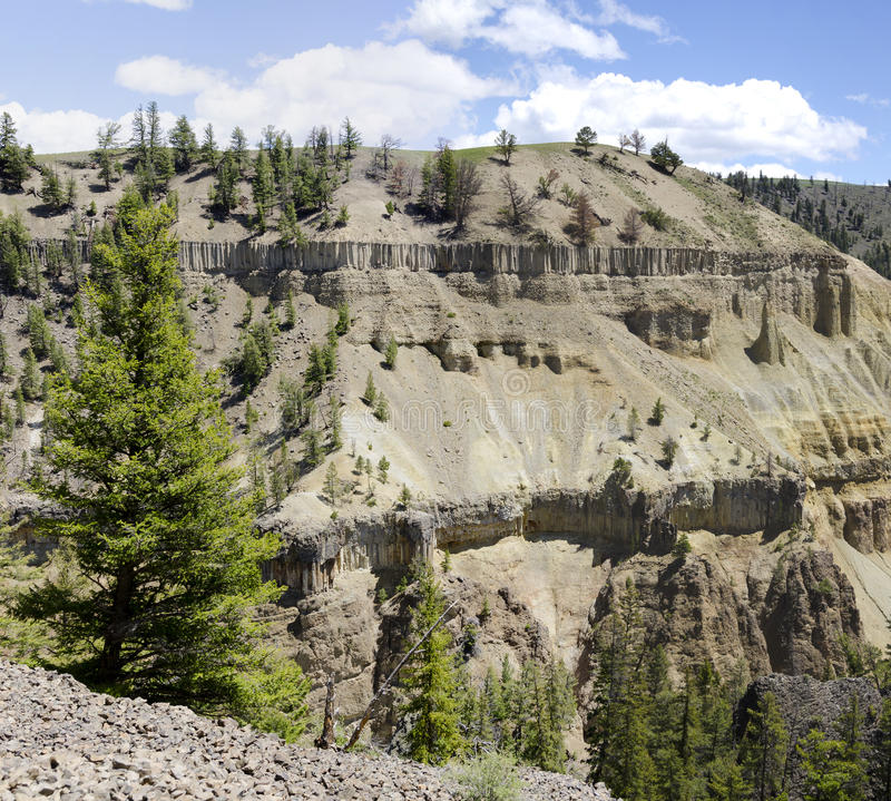 Download Canyon in Yellowstone stock image. Image of national - 26102697