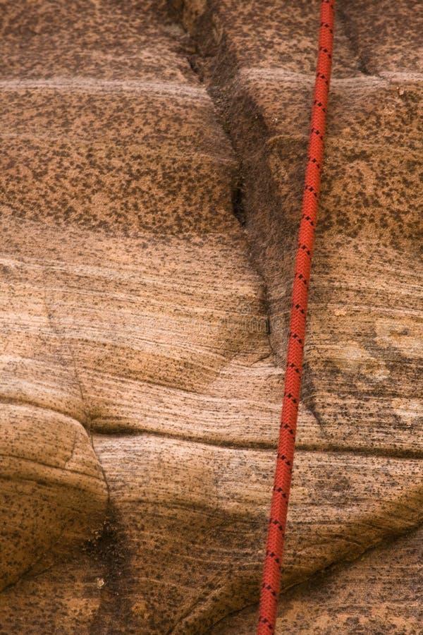 Canyoneering Seil lizenzfreies stockbild