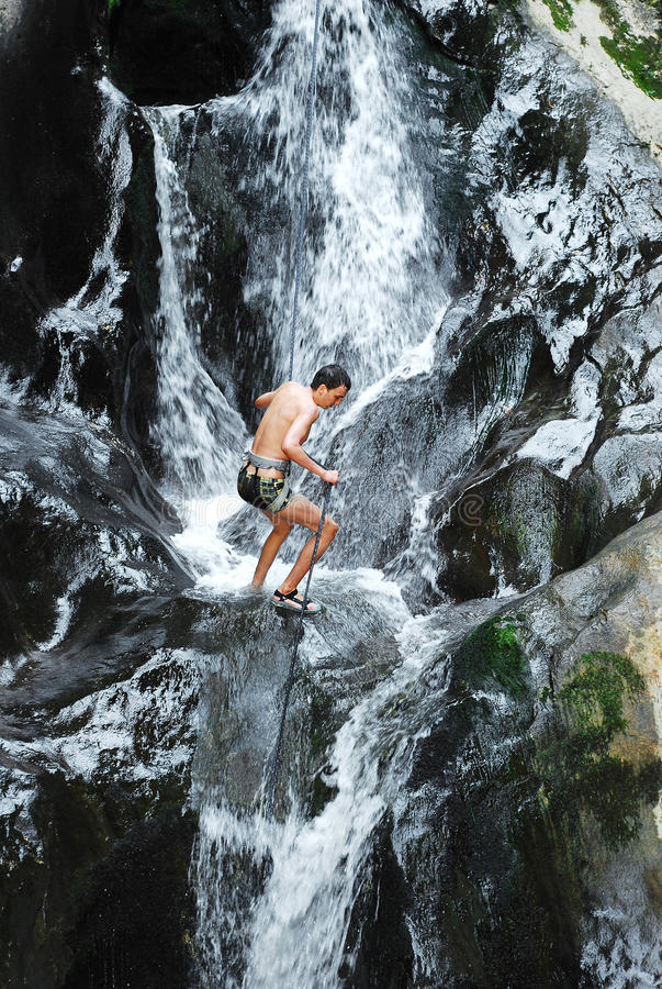 Download Canyoning stock photo. Image of challenge, rappel, sport - 15870624