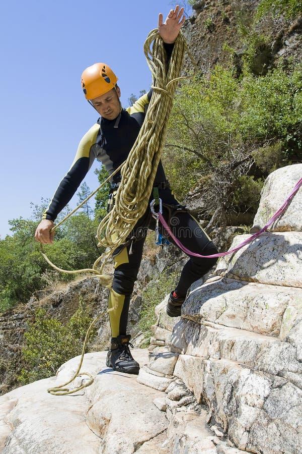 Canyoning sport royalty free stock image