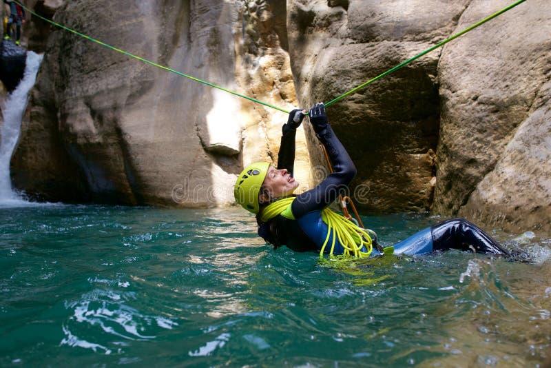 Canyoning w Hiszpania obraz royalty free