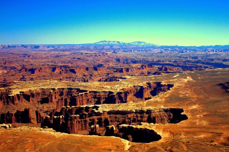 Canyonlands忽略Grandview点犹他 库存照片