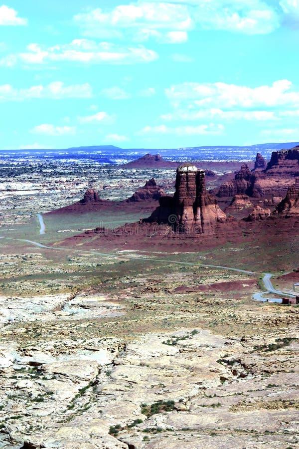 canyonlands红色岩石 免版税库存照片
