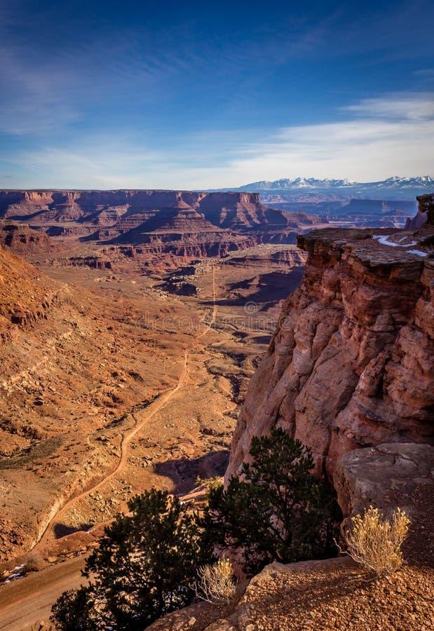 Canyonlands视图垂直 免版税库存照片