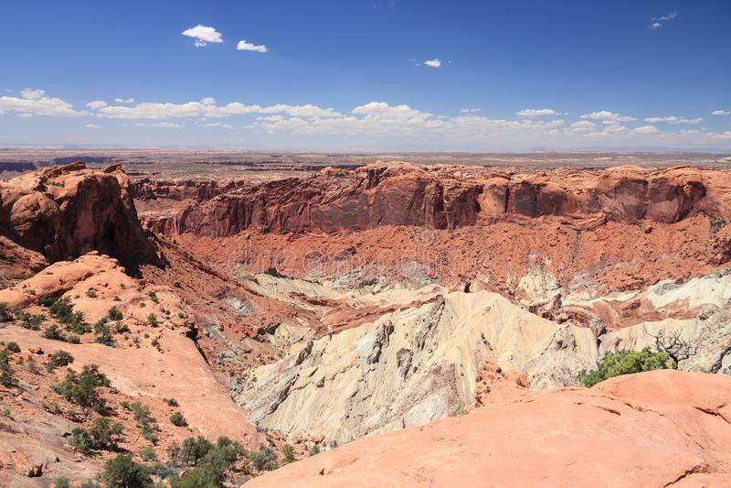 Canyonlands风景 库存照片