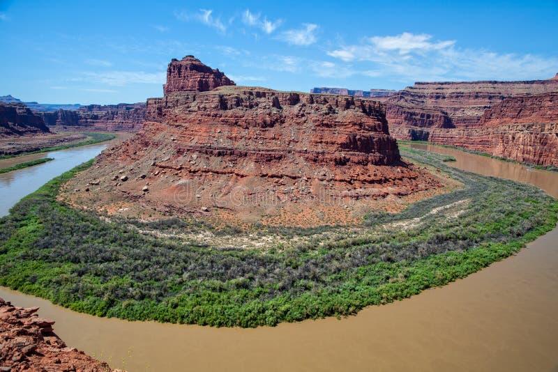 canyonlands εθνικός ποταμός πάρκων του Κολοράντο στοκ φωτογραφία με δικαίωμα ελεύθερης χρήσης