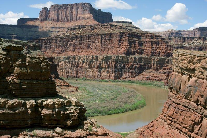 canyonlands εθνικός ποταμός πάρκων τ&o στοκ φωτογραφία