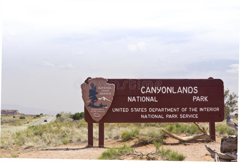 Canyonlands National Park Sign Royalty Free Stock Photo