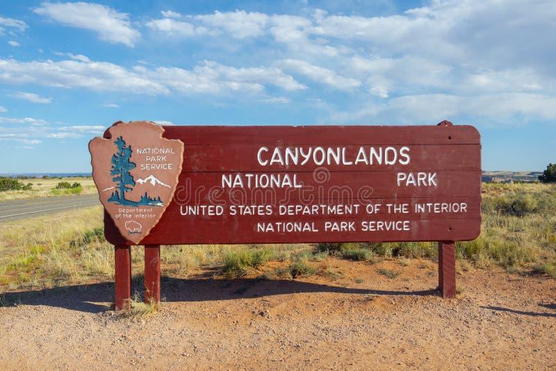 Canyonlands park narodowy, Moab, Utah, usa zdjęcie royalty free
